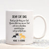 G2 Personalized Thank You For Being Our Dad Cat Mug - Dad Cat Mug