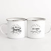 Personalized i love you to the mountains and back couples campfire mug - GST