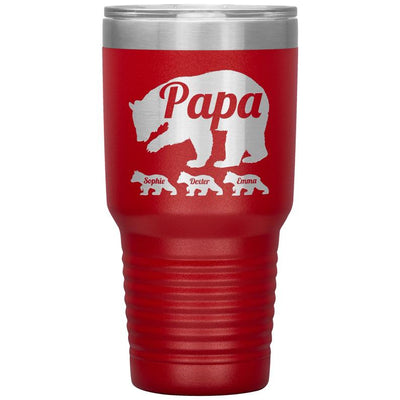 Personalized Papa Bear Tumbler - Daddy Mugs