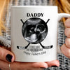 Personalized Sonogram First Father's Day Hockey Dad Mug - Daddy Mugs