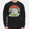 Confused Cat At Table Sweater, Cat At Table Meme Shirt Gift For Friend Christmas Gift