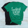 Luckiest teacher ever st patricks day shirt for teacher - GST