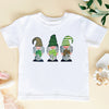 St patricks day lucky 3 gnome leopard kids shirt - GST