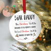 Dear Daddy This Christmas In Mommy Tummy Twin Acrylic Ornament Gift For Dad To Be