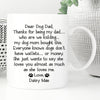 Thanks For Being My Dad Mug Gift For Dog Dad