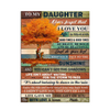 Gift For Daughter Fall Tree Keep Your Face To Sunshine Vertical Canvas