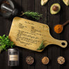 Custom Engraved Family Recipe Grandmother's Recipe Cutting Board