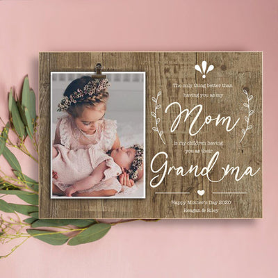 Personalized the only thing better mom grandma poster canvas Gift for mom