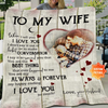 Personalized Photo Blanket Anniversary Gift For Wife I Love You