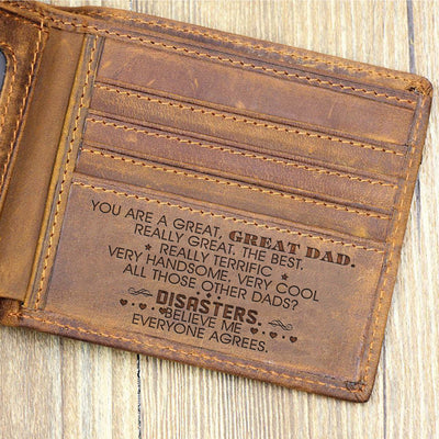 You Are A Great Great Dad Wallet Gift For Dad