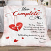 Personalized You Complete Me Fleece Blanket Gift For Her