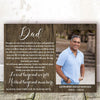 Personalized Loved Beyond Words Missed Beyond Measure Dad Poster Canvas Memorial Gift