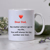 Dear You My Number One Man Mug - Gift For Dad Gsge