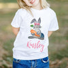 Personalized Long Sleeve for Kids - Bunny Easter Shirt GST