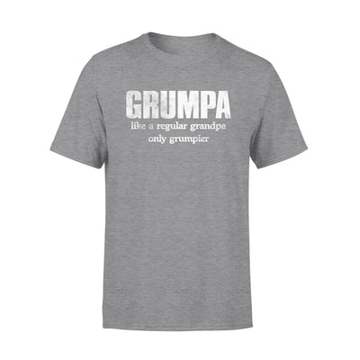 Grumpa Like A Regular Granpa Only Grumpier Black Shirt Gift For Grandpa For Father's Day