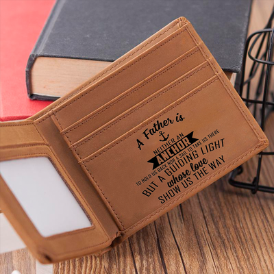 A Father Is A Guiding Light Wallet Gift For Dad