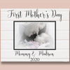Personalized First Mother's Day Mommy And Baby Poster Canvas Gift For Mom