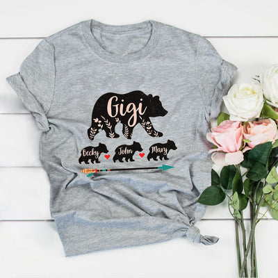Personalized Gigi Bear Shirt Gift For Grandmother