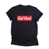 Girl Dad Red White Design Shirt Gift For Dad