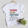 Grandma knows everything tshirt gift for grandma