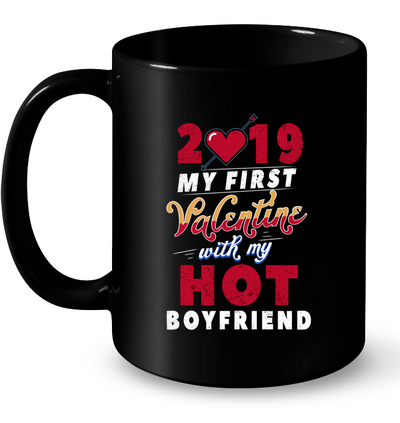 My First Valentine with My Hot Boyfriend Long Sleeve Gift For Girlfriend