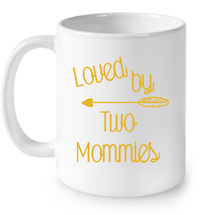 LOVED BY TWO MOMMIES - FAMQ, Gift For infant, Baby Shirt, Gift For Kids, Child's Gift, All Size For Kids