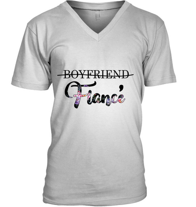 Boyfriend Promoted To Fiance Shirt Gift For Fiance For Engagement