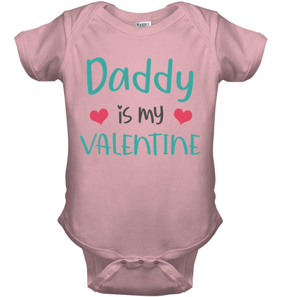 Daddy is my valentine, gift for dad, father's day gift, baby shirt, gift for kids, child's gift