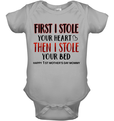 Famh first  i stole your heart, kid shirt, gifts for kid, plus size shirt, baby onesie
