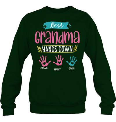 Custom  name Rest Grandma Hands Down Shirt Gift For Grandma