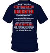 I Have A Freaking Awesome Daughter Who Happened To be Born Before I Met Her Navy T Shirt Gift For Stepdad