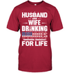 Husband And Wife Drinking Buddies For Life T Shirt Gift For Wife For Husband