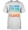 Proud Stepdad Of A Freaking Awesome Stepdaughter T-shirt