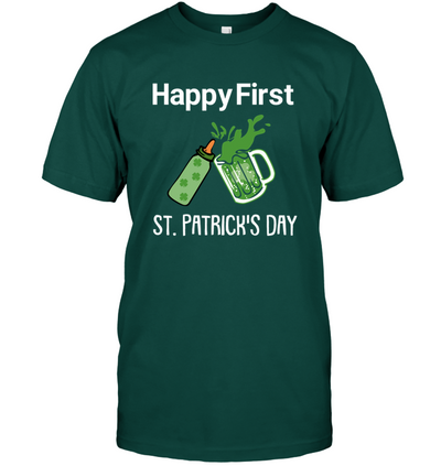 Happy First St.patrick's Day T Shirt Gift For First Time Dad