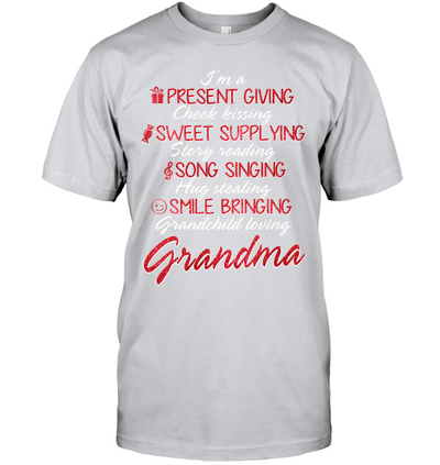 Present Giving Cheek Kissing Shirt Gift For Grandmother