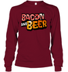 Bacon And Beer T-shirt Gift For Dad Grandpa