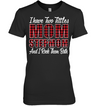 I Have Two Titles Mom And Stepmom Caro Text T-Shirt - FAMTH Family Panda