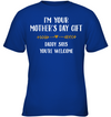 Daddy say you're welcome,kid shirt, gifts for kid, plus size shirt, baby onesie