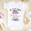 If mom says no auntie will say yes onesie gift for baby