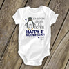 Personalized Penguin Onesie for Infant - You have done a great job, Mommy. Happy 1st Mother's Day together.