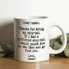 Personalized Thank You For Being My Stepdad Mug Gift For Step Dad