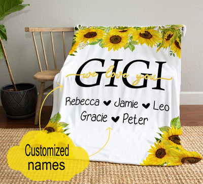 Personalized We Love You Blanket Gift For Grandmother