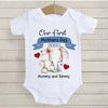 Personalized Elephant Bodysuit for Newborn - Our first Mother's Day together.