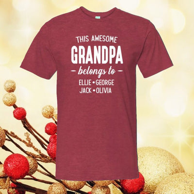 Personalized This Awesome Grandpa Belongs To Shirt Grandpa Shirt