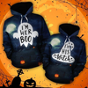 I'm Her Boo I'm His Witch 3D Printed Hoodie Halloween Gift For Her For Him