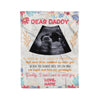 Personalized Dear Daddy This Father's Day Fleece Blanket Gift For Dad To Be