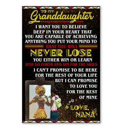 TO MY GRANDDAUGHTER- FAMTH