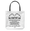 To my wonderful mother in law from new daughter tote bag - famh