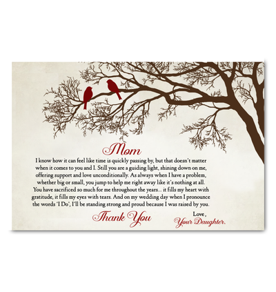 Gift For Mom From Daughter I Was Raised By You Poster