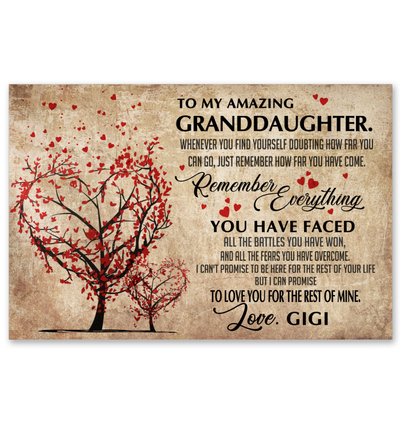 To My Granddaughter Poster Gift For Granddaughter